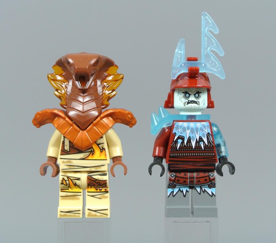 Огненный Разрушитель и Ледяной Лучник, вид спереди