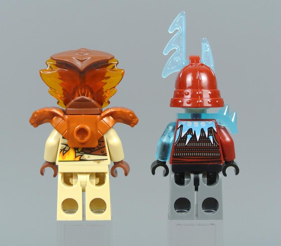 Огненный Разрушитель и Ледяной Лучник, вид сзади